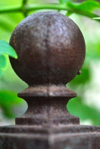 Finial on arbor entrance to the Secret Garden