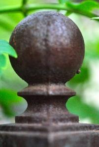 Finial on arbor entrance to the Secret Garden