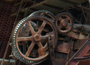 Part of the machinery for making bricks.